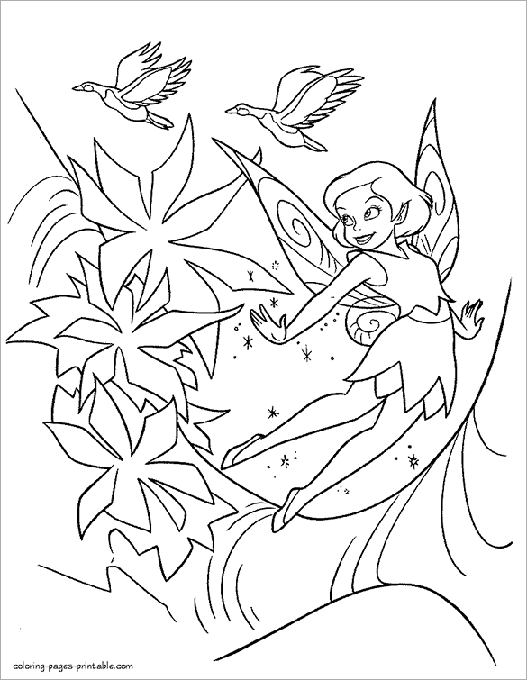 Free Printable Fairy Coloring Pages