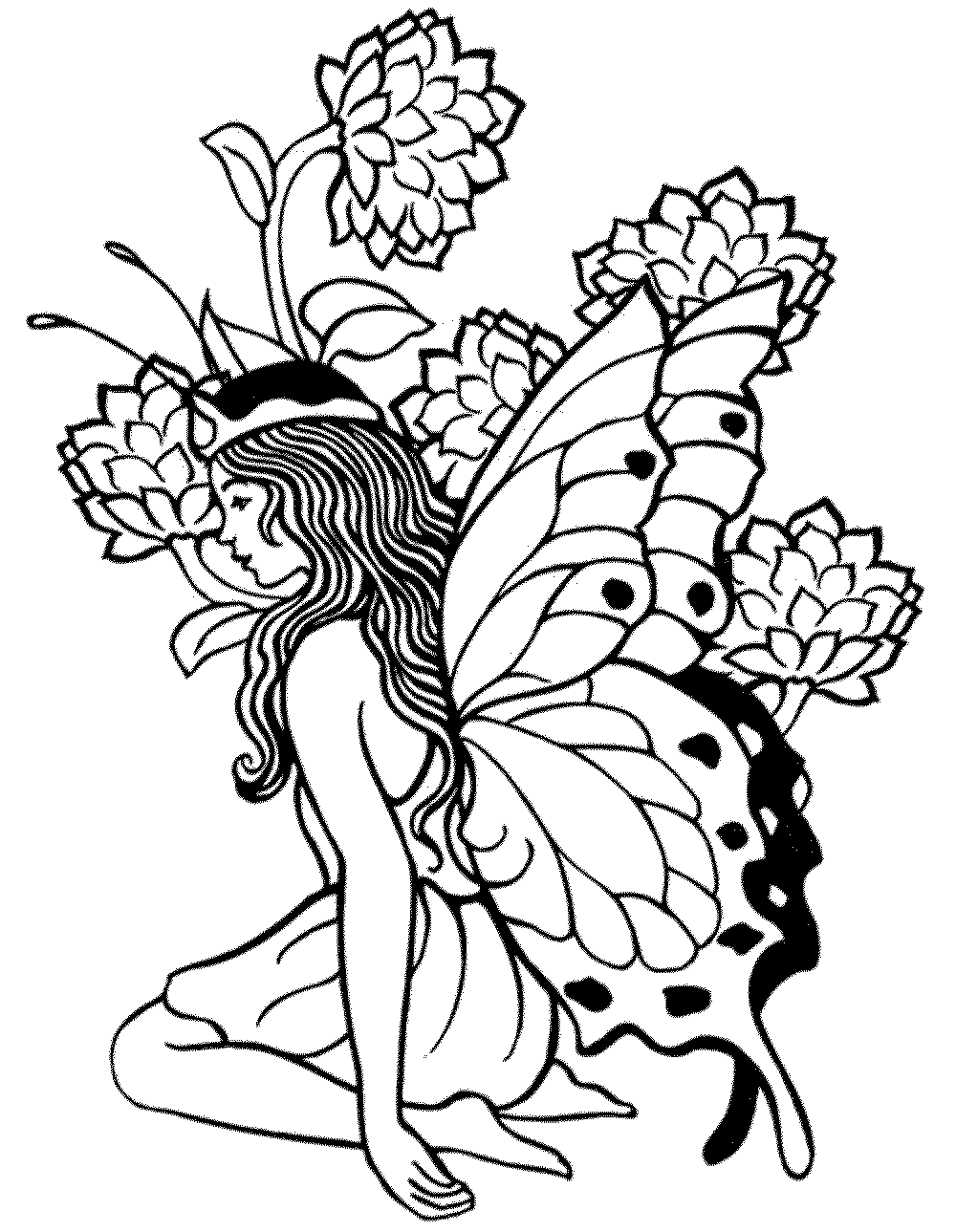 Free Printable Fairy Coloring Pages at GetDrawings.com ...