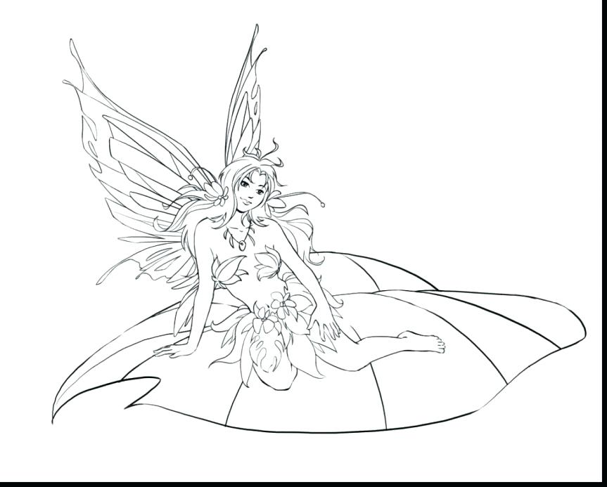 863x693 Fairy Art Fantasy Coloring Pages Free Page Book Fairies