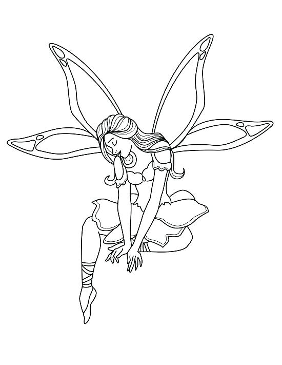 550x711 Fairy Coloring Pages Great Free Printable Fairy Coloring Pages