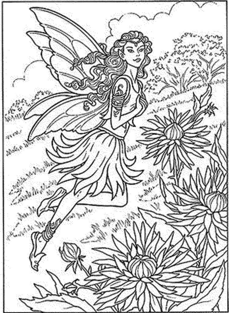 750x1024 Coloring Pages Fairy Coloring Pages For Adults Printable Kids