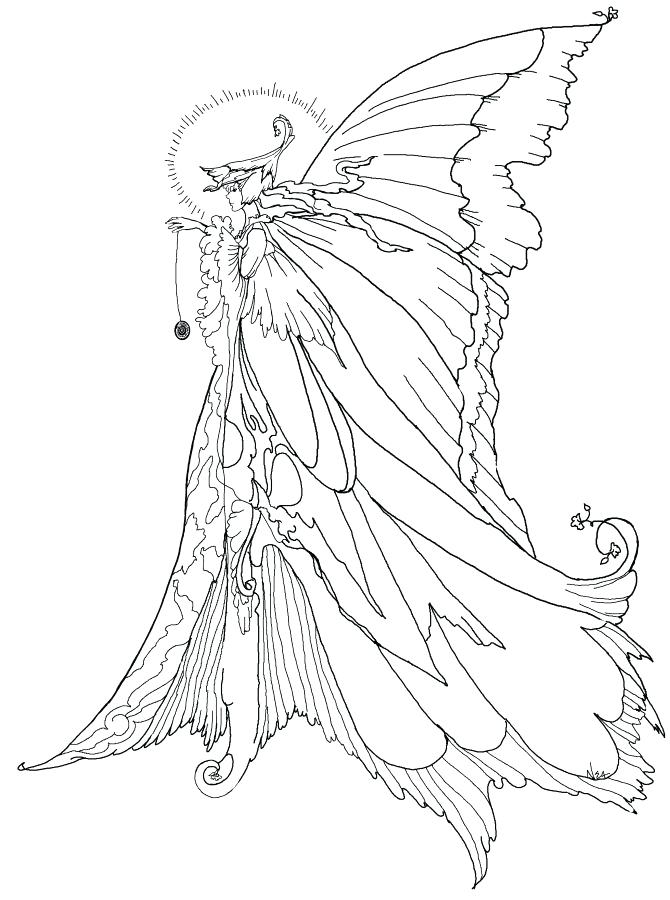 670x900 Adult Fantasy Coloring Pages