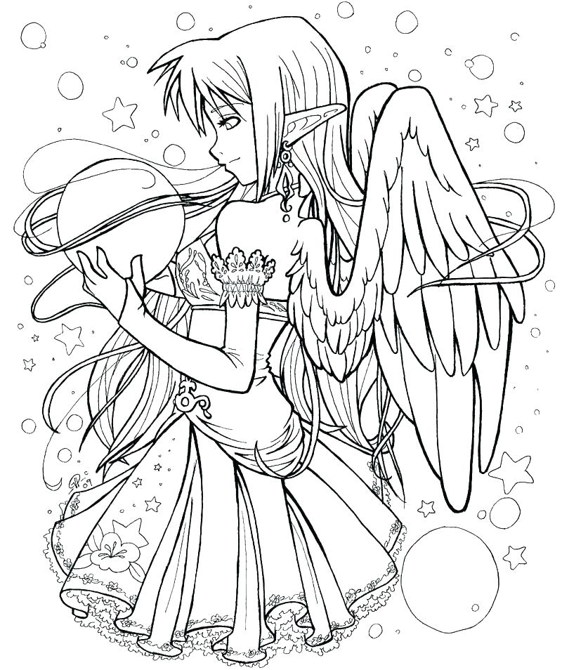 800x954 Free Fairy Coloring Pages