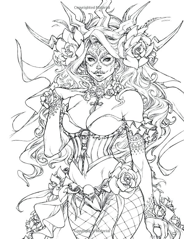 600x781 Free Printable Fairy Coloring Pages For Adults