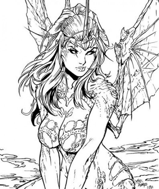 520x621 Fairies Coloring Pages For Adults Interesting Hard Fairy Coloring