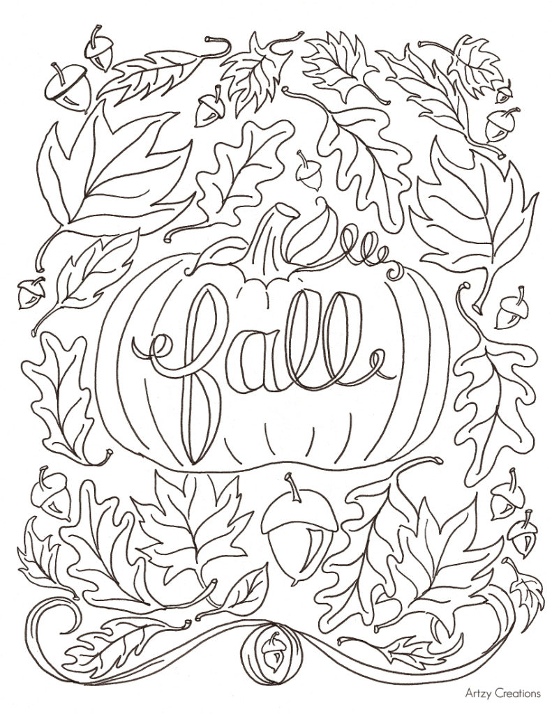 791x1024 Launching Fall Coloring Sheets For Kids Free P