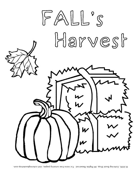 Free Printable Fall Harvest Coloring Pages