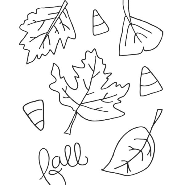 600x600 Printable Fall Coloring Pages For Kids