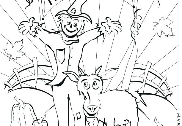 612x425 Autumn Harvest Coloring Pages Fall Printable Adult Fa
