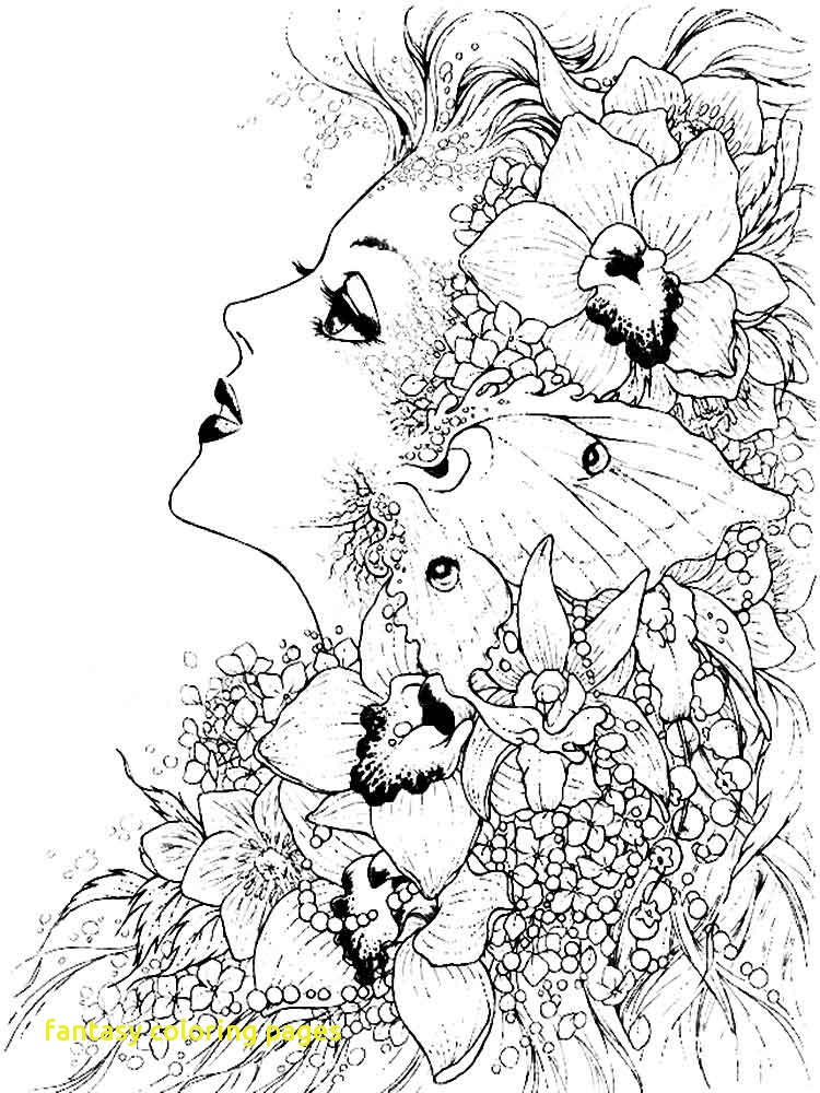 750x1000 Fantasy Coloring Pages With Fantasy Coloring Pages For Adults Free