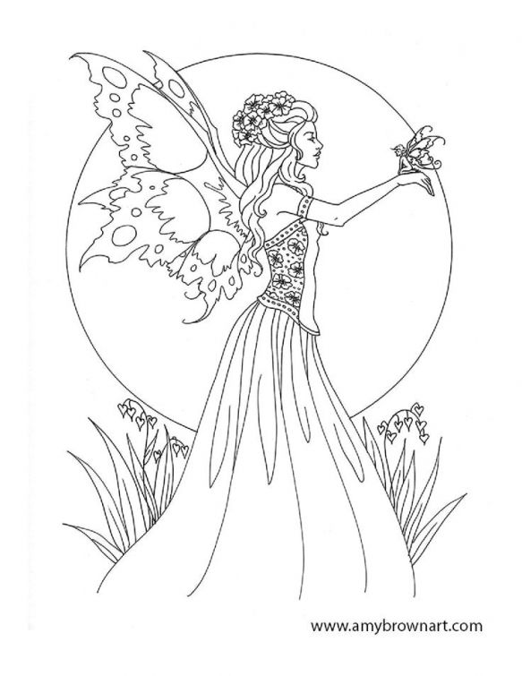 583x755 Free Printable Fairy Coloring Pages Fantasy Coloring Pages