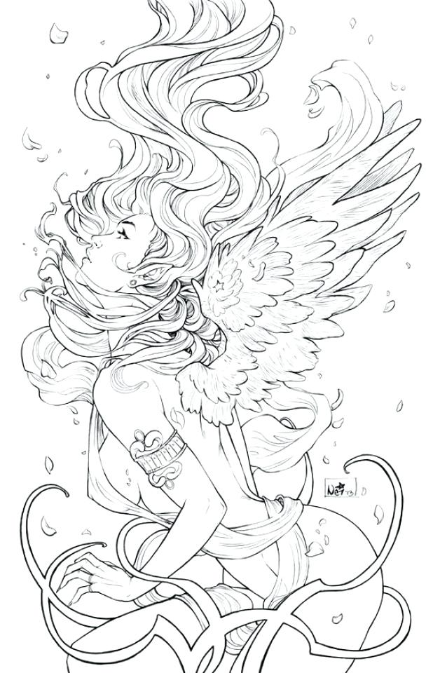 618x960 Lovely Fantasy Coloring Pages For Adults And Free Flower Fairy