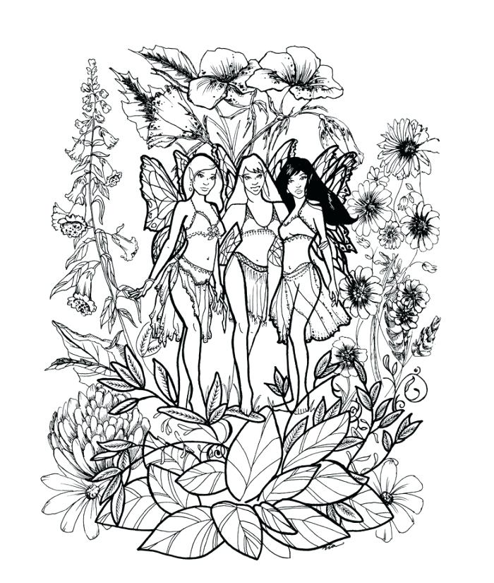 700x825 Printable Fairy Tale Coloring Pages Fantasy For Adults Page Sun