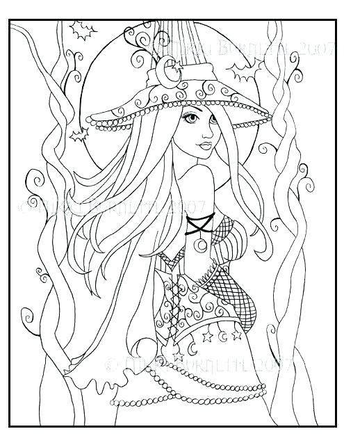 495x640 Adult Fantasy Coloring Pages