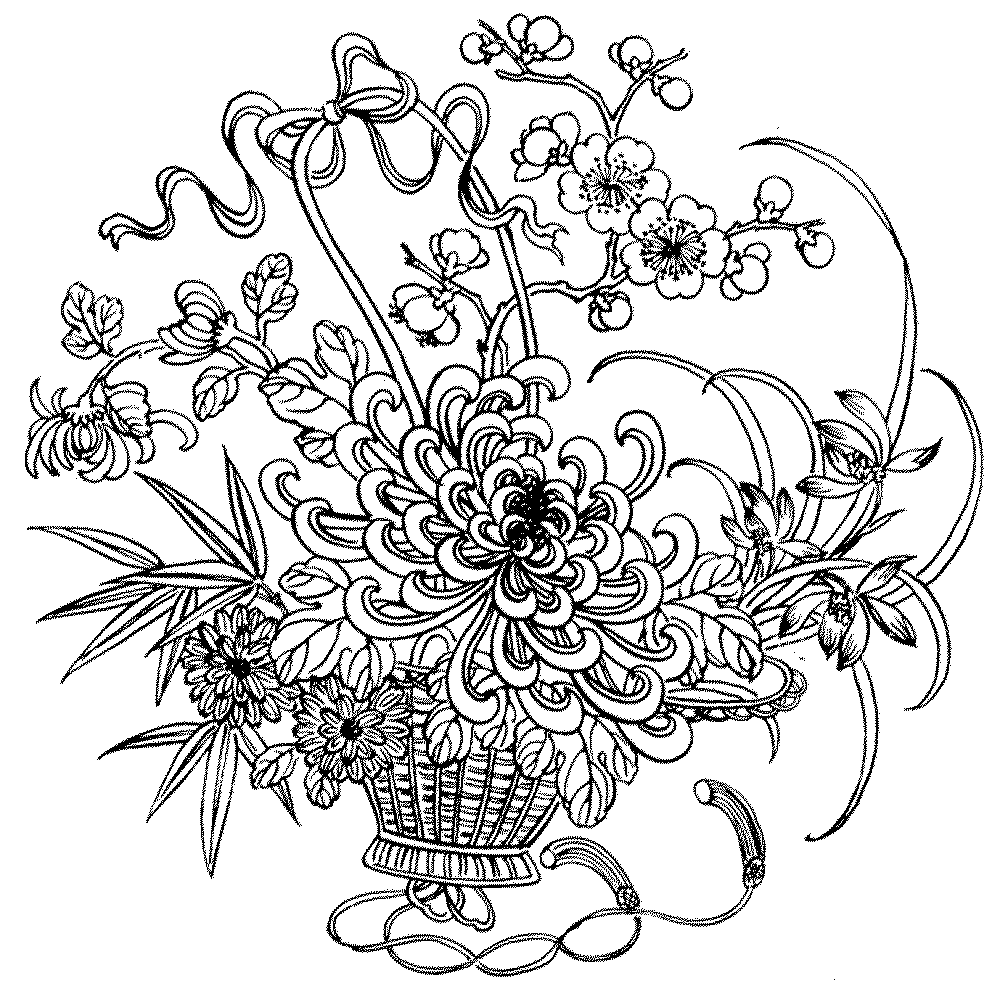 1000x989 Adult Coloring Pages Flowers