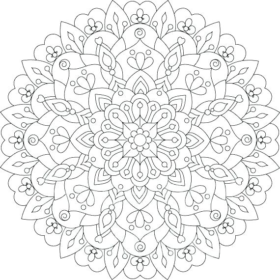 Free Printable Flower Mandala Coloring Pages At Getdrawings Free