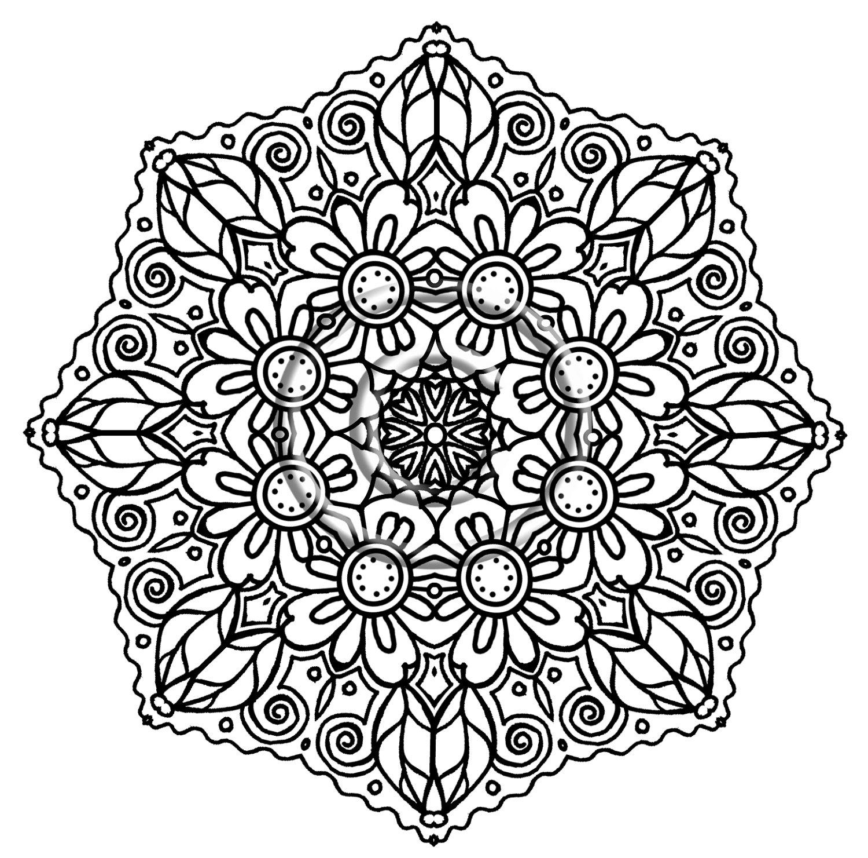 Free Printable Flower Mandala Coloring Pages at GetDrawings ...