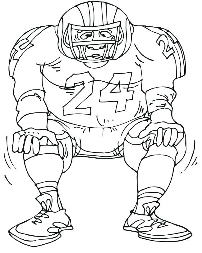 650x815 Football Player Colouring Pages Printable Football Player Coloring