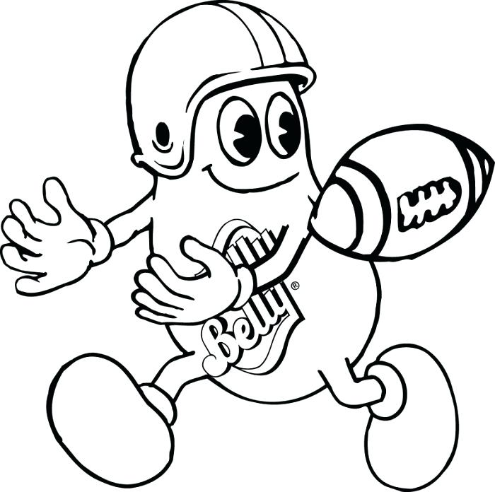 700x696 Coloring Pages Of Football Football Coloring Pages Football