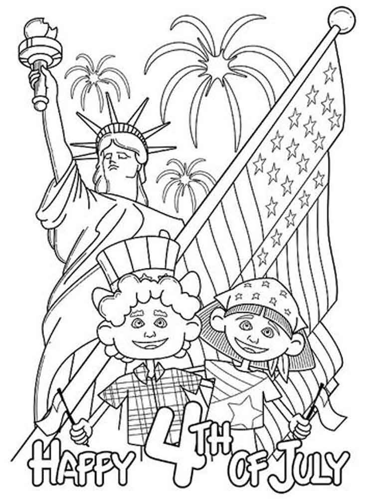 750x1000 Fourth Of July Coloring Pages Free Printable Fourth Of July