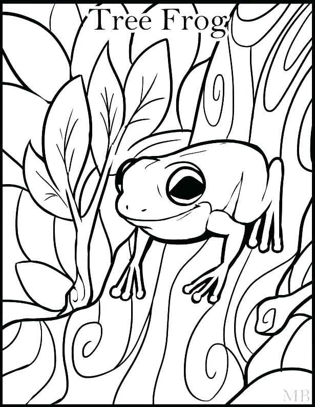 615x796 Frogs Coloring Pages Frog Coloring Pages For Adults Frog Frogs