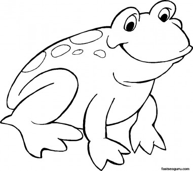 381x338 Printable Smiling Frog Coloring Page Animal Pictures To Print