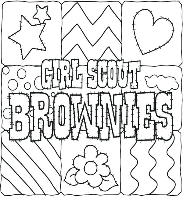 600x653 Cookie Coloring Pages Printable Girl Scout Cookies Coloring Pages