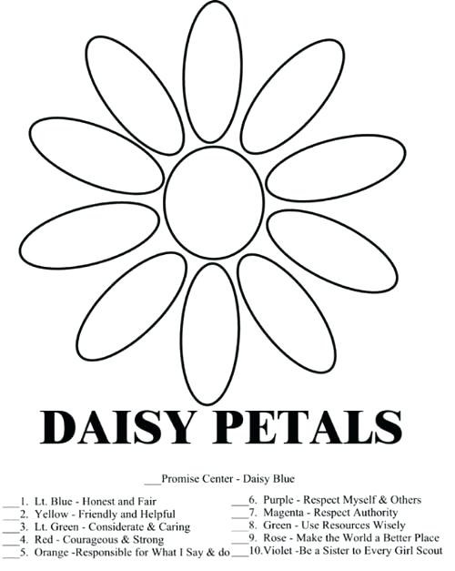 500x627 Daisy Girl Scout Law Promise Coloring Pages Free Coloring Free