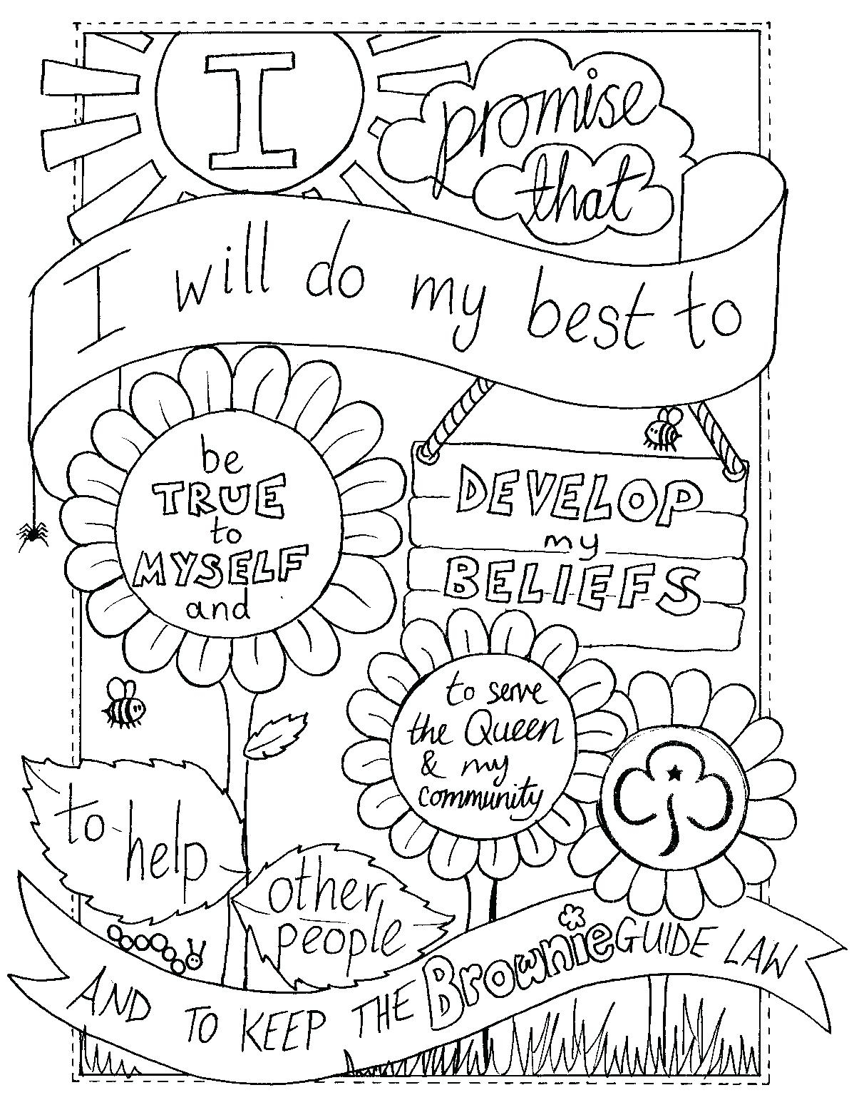 1198x1542 Printable Girl Scout Brownie Coloring Pages To Print Free