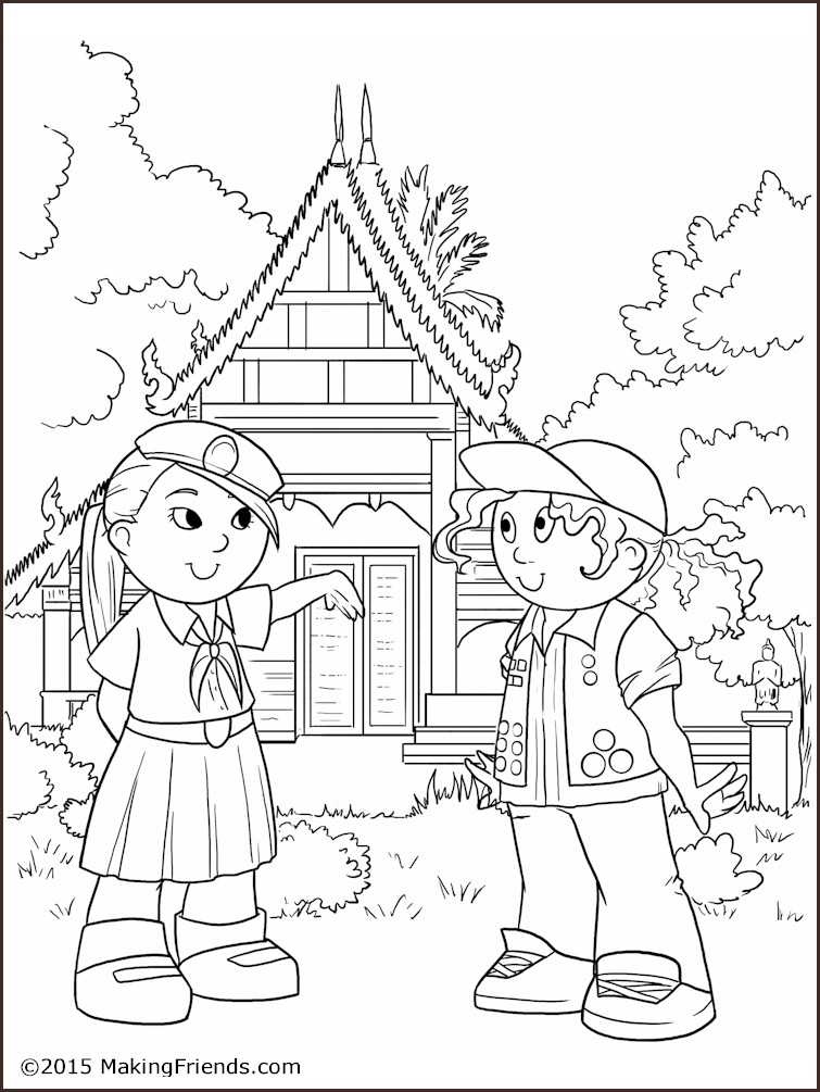 755x1005 Thailand Girl Guide Coloring Page Girl Guides, Free Printable