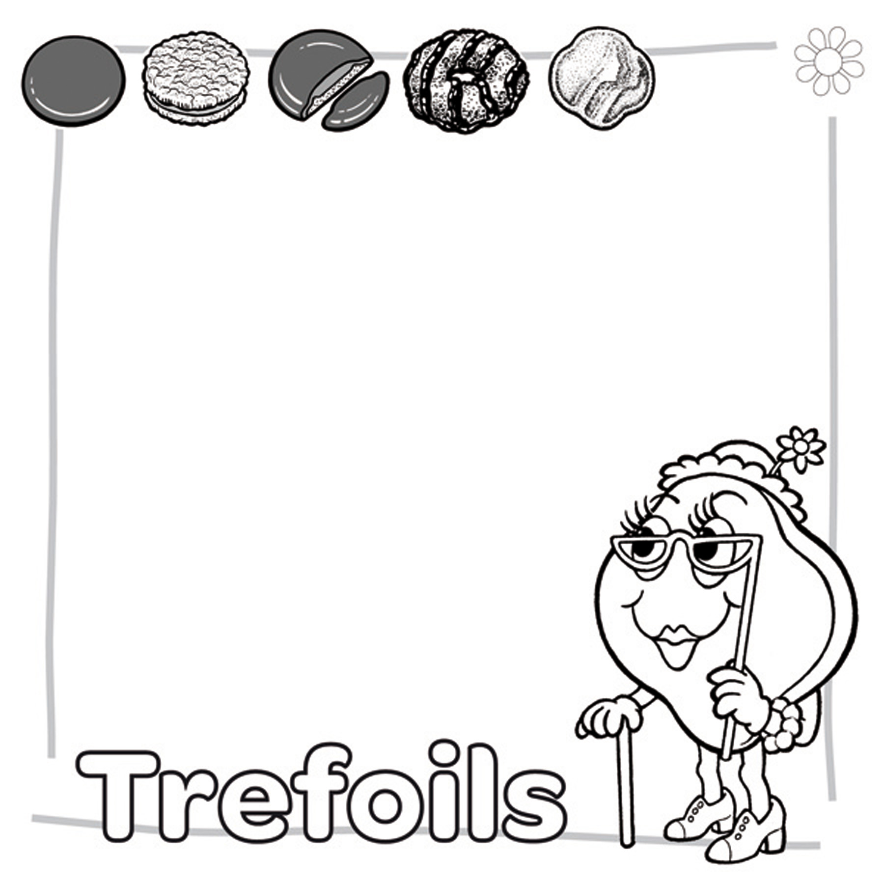 1800x1800 Trefoil Colouring Pages Girl Scout Cookie Coloring Inside Color