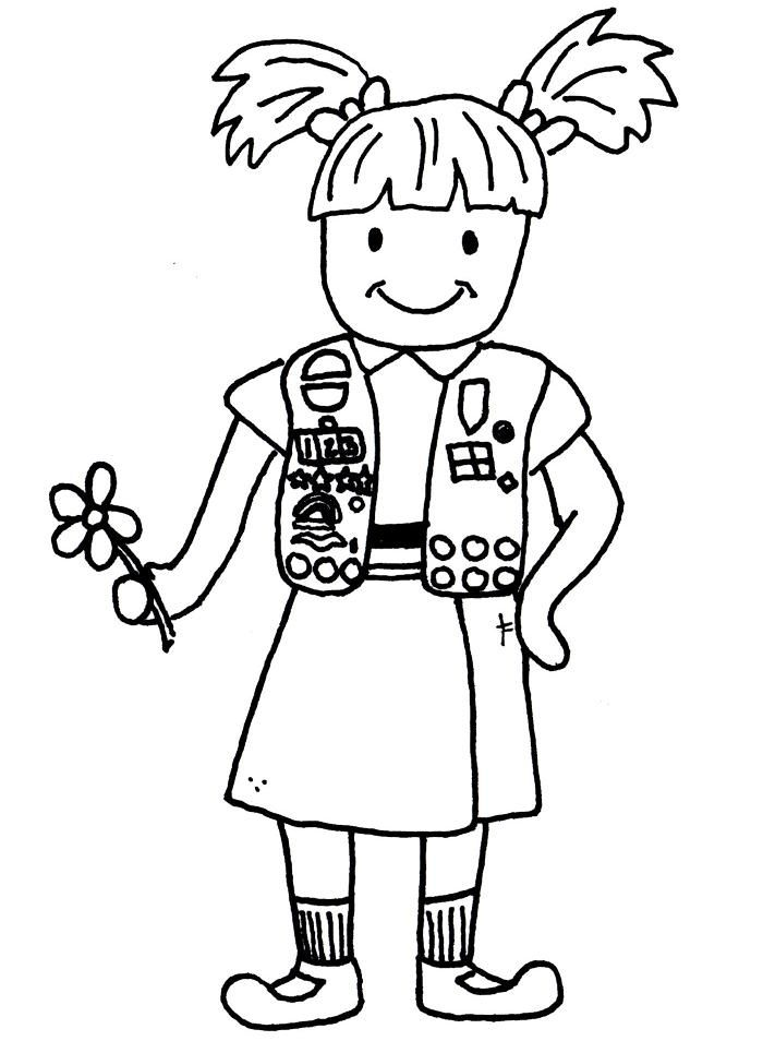 700x954 Brownie Girl Scout Coloring Pages