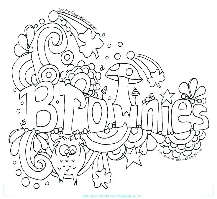736x676 Coloring Pages For Girl Scouts Scout Coloring Pages Free Girl