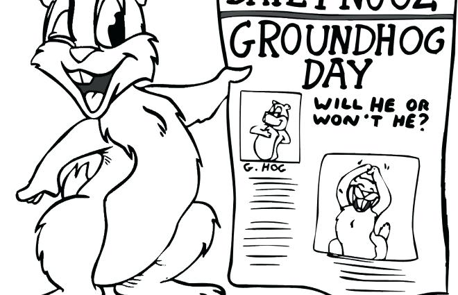 image regarding Groundhog Day Coloring Pages Free Printable named Cost-free Printable Groundhog Working day Coloring Webpages at GetDrawings