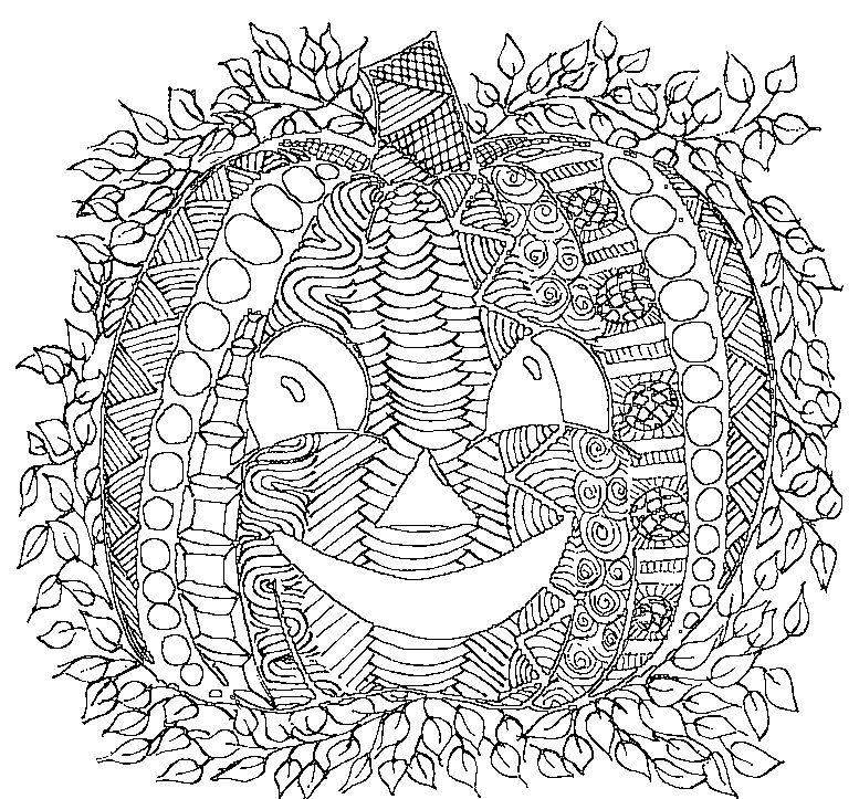 777x723 Adult Halloween Coloring Pages To Download And Print For Free