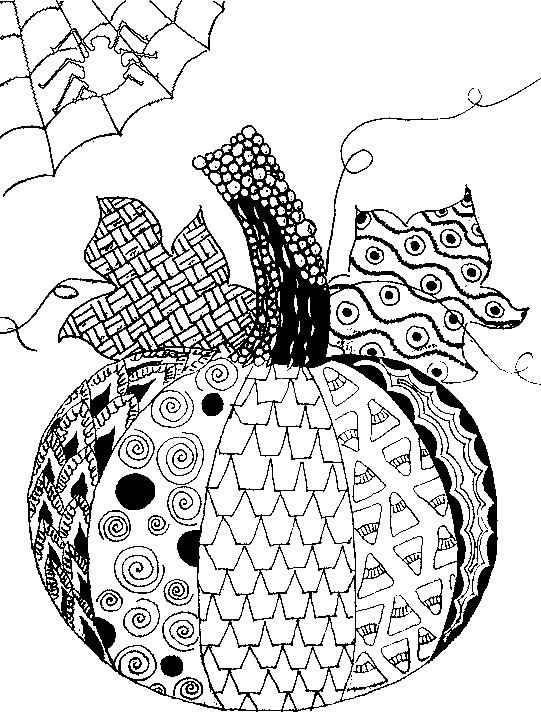 541x722 Adult Halloween Coloring Pages Adult Halloween Coloring