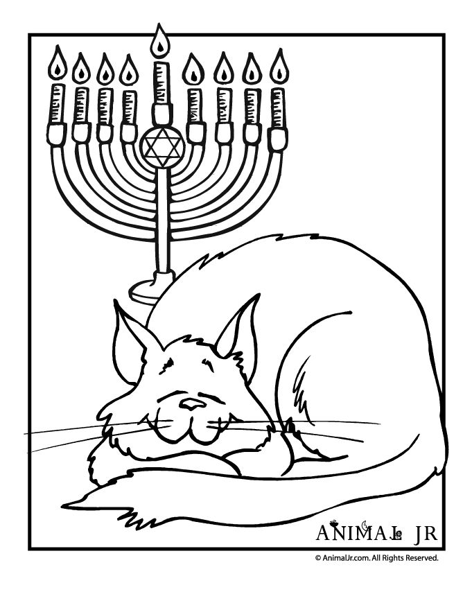 Free Printable Hanukkah Coloring Pages