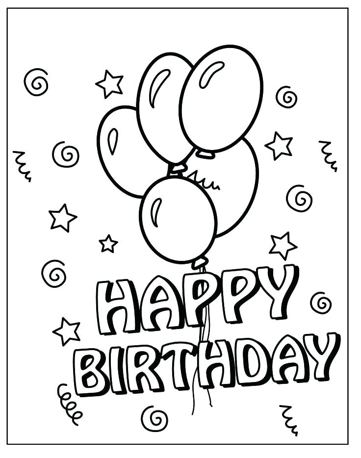 736x934 Happy Birthday Coloring Pages Printable Happy Birthday Card Happy