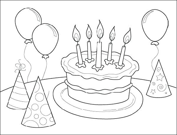 Free Printable Happy Birthday Coloring Pages At Getdrawings