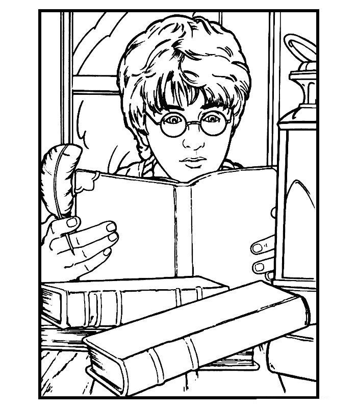 700x800 Free Printable Harry Potter Coloring Pages For Kids Harry Potter
