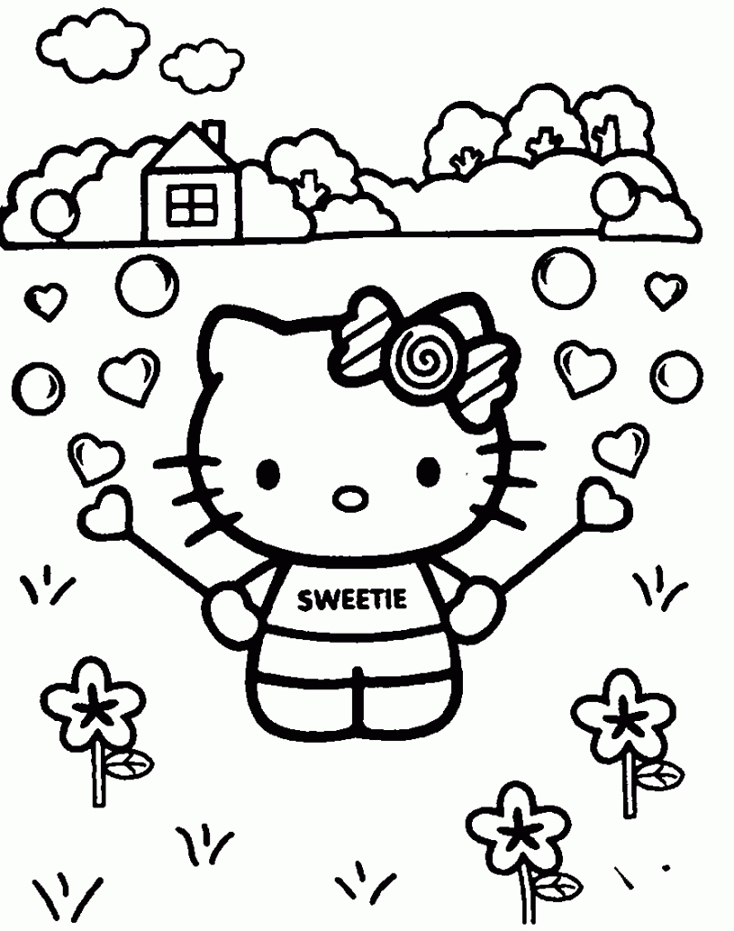 807x1024 Hello Kids Coloring Pages New Free Printable Hello Kitty Coloring