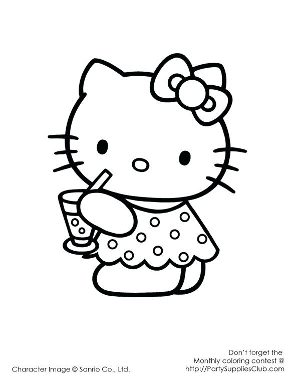 593x768 Hello Kitty Coloring Pictures To Print Free Printable Coloring