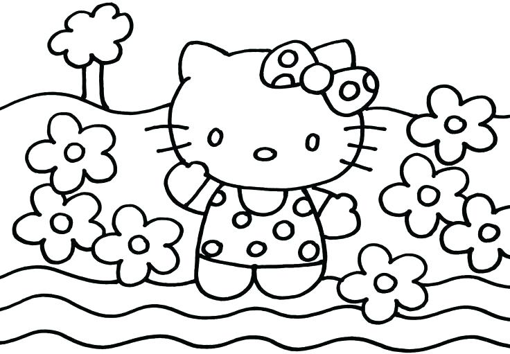 736x511 Printable Hello Kitty Coloring Pages Hello Kitty Coloring Pages