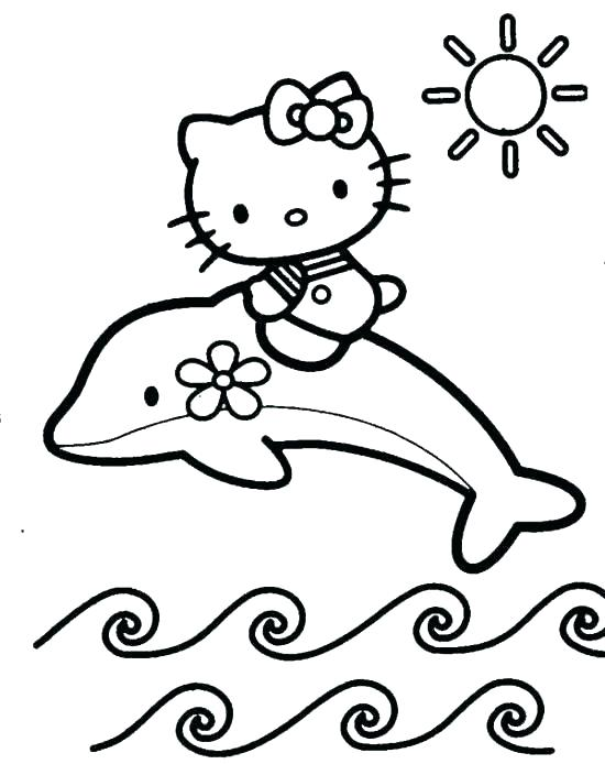 550x694 Baby Hello Kitty Coloring Pages