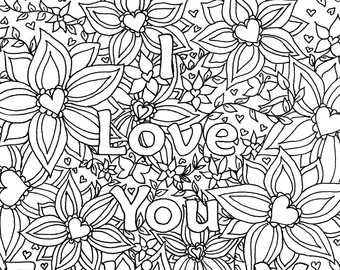 Free Printable I Love You Coloring Pages at GetDrawings.com ...