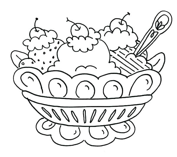 600x533 Having Ice Cream Coloring Page Boys Pages Of Having Ice Cream