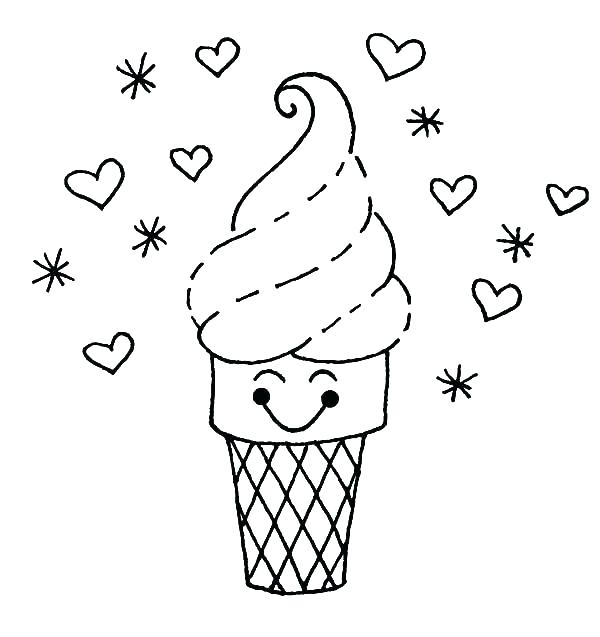 600x637 Ice Cream Coloring Sheets Coloring Pictures Of Ice Cream Ice Cream