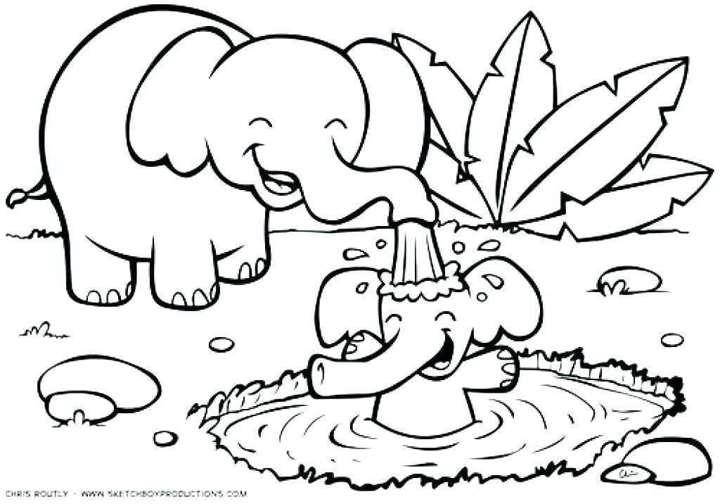 1024x716 Jungle Animals Coloring Page Jungle Animal Coloring Pages Jungle