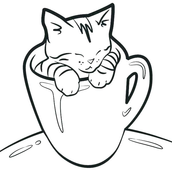 600x592 Free Printable Kitten Coloring Pages For Kids Best Coloring Kitten