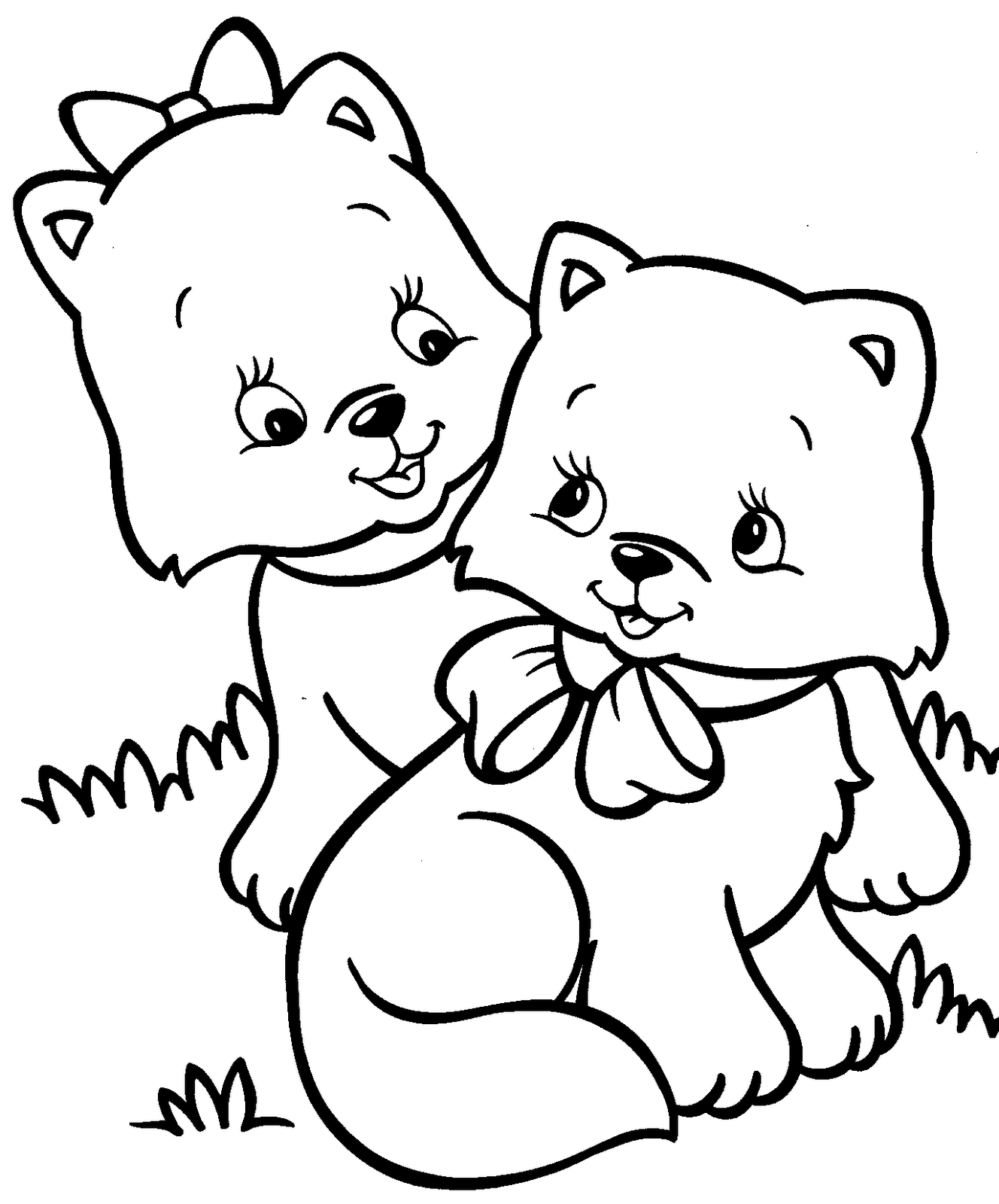 1328x1600 Innovative Kitten Coloring Pages Cute Page Free Printable